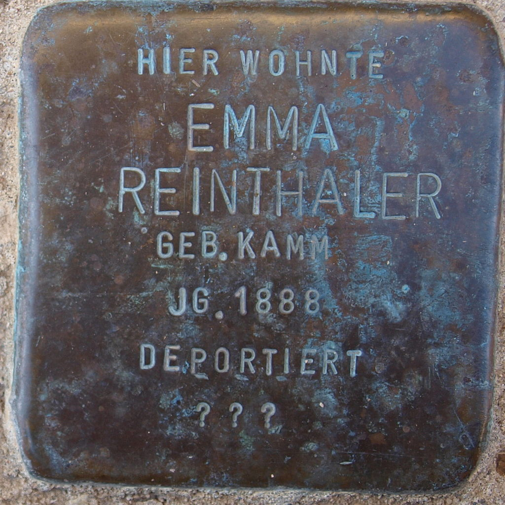 Stolperstein Kitzingen Rosenstraße 10 Emma Reinthaler