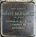 Stolperstein Metzer Str 26 (Prenz) Robert Majerowicz.jpg