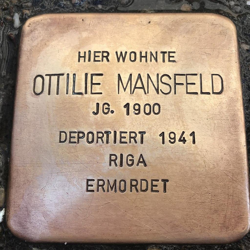 Stolperstein Ottilie Mansfeld in Lüchow (Wendland).jpg