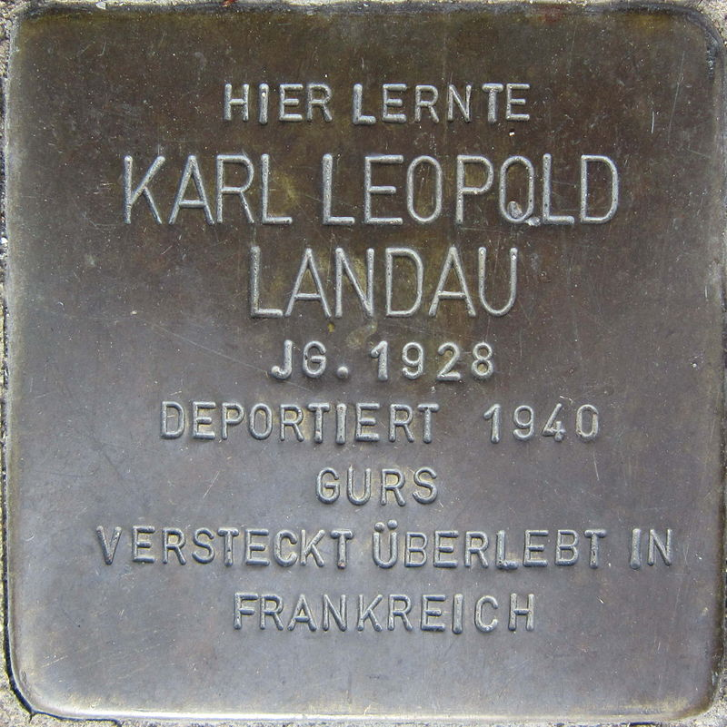 Stolperstein Pforzheim Landau Karl Leopold.jpeg