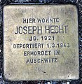 Stolperstein Schleswiger Ufer 5 (Hansa) Joseph Hecht.jpg