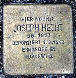 Photo of Josef Joseph Hecht brass plaque