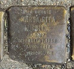 Photo of Marga Rita Hurwitz brass plaque