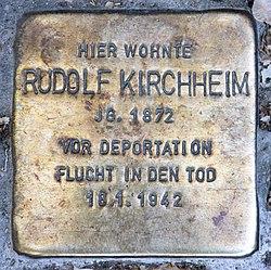 Photo of Rudolf Kirchheim brass plaque