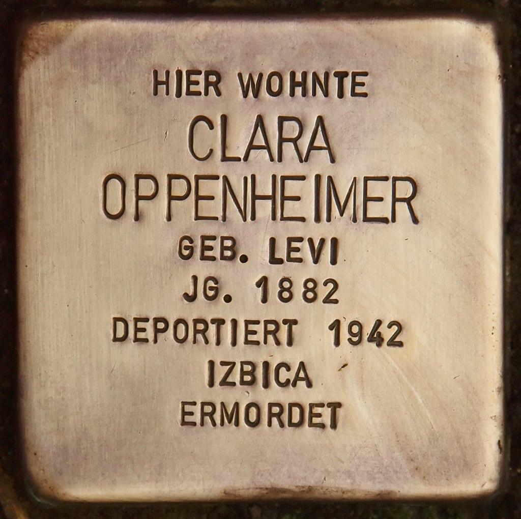 Stolperstein für Clara Oppenheimer (Marktbreit).jpg