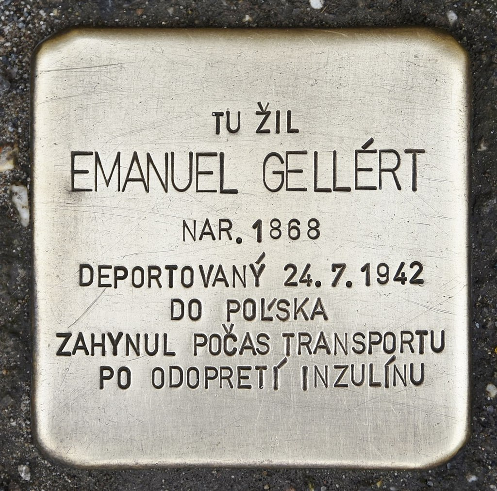 Stolperstein für Emanuel Gellért.JPG