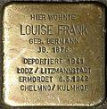 Stumbling block for Louise Frank (Jahnstraße 20)
