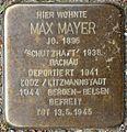 Stolpersteine Krefeld, Max Mayer (Bruchstraße 31).jpg