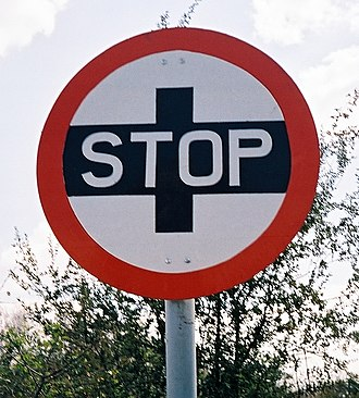 Road signs in Zimbabwe - Stop sign in Zimbabwe