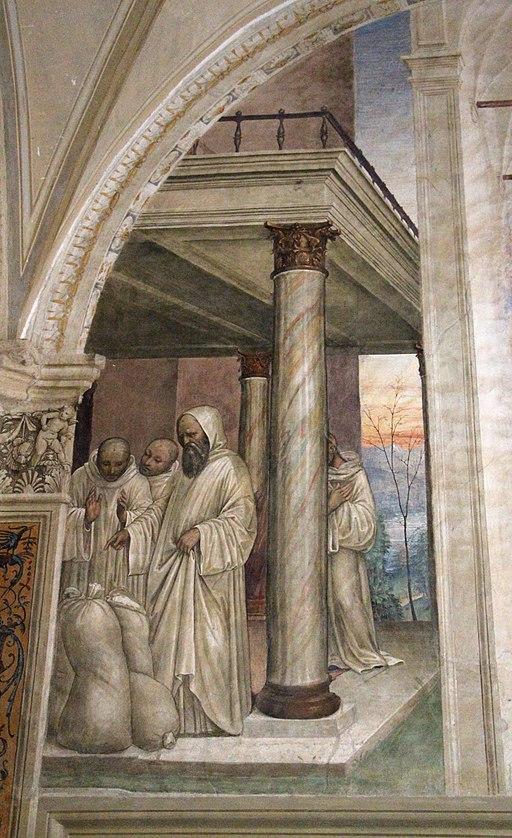 Storie di s. benedetto, 31 sodoma - Come Benedetto ottiene farina in abbondanza e ne ristora i monaci 02