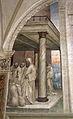 Storie di s. benedetto, 31 sodoma - Come Benedetto ottiene farina in abbondanza e ne ristora i monaci 02.JPG