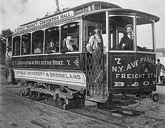 Streetcars in Washington, D.C. - A DC street car around 1890