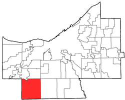 Location of Strongsville in Cuyahoga County