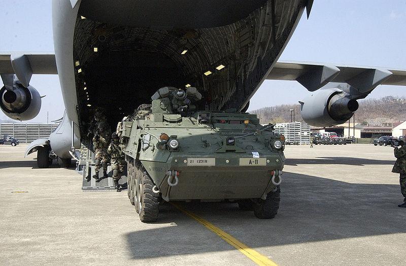 그림:Stryker at Daegu Air Base.jpg