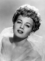 Black-and-white publicity photo of Shelley Winters.