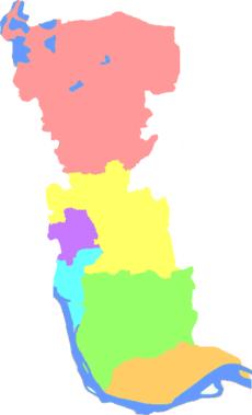 Subdivisions of Taizhou, Jiangsu, China.png