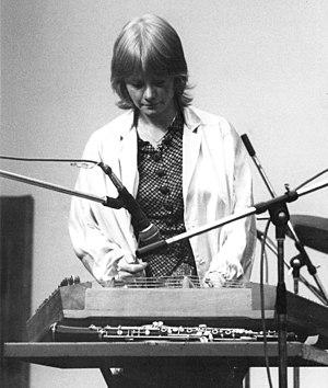 Sue Harris - Sue Harris on stage at Greenwich, U.K., 1982