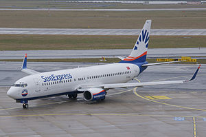 Low-cost carrier - SunExpress Boeing 737-800 at Zurich Airport
