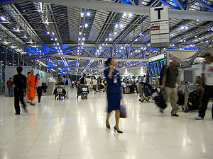 Suvarnabhumi Airport - Departure hall