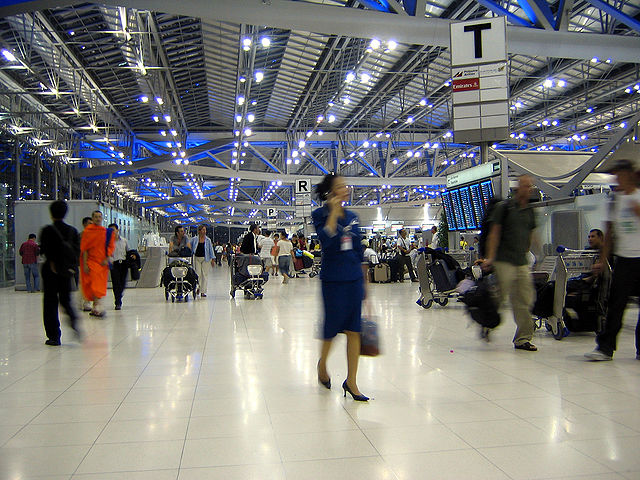 Suvarnabhumi Airport,Bangkok Thailand - from Wikimedia Commons