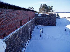 Svartholm fortress - Image: Svartholma kurtiini