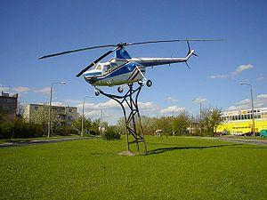 Świdnik - SM-1 helicopter near PZL factory