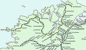 Londonderry and Lough Swilly Railway - The line in 1906