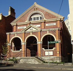 Quakers - Heritage-listed Quaker meeting house, Sydney, Australia