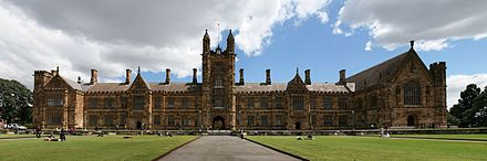 The University of Sydney, established in 1850, is the oldest university in Australia SydneyUniversity FrontLawns.jpg