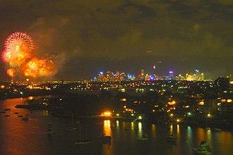 Gladesville Bridge - The view of Sydney from the Gladesville Bridge.