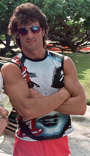 Photo of Sylvester Stallone in Hawaii.