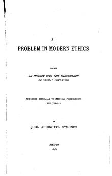 Symonds - A Problem in Modern Ethics.djvu