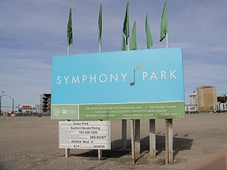 Symphony Park - Symphony Park Project Sign (2010)