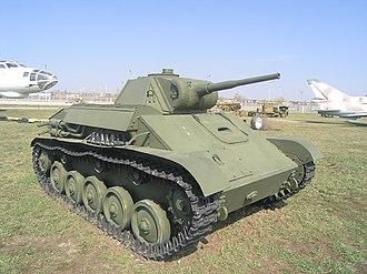 T-70 - Image: T 70, technical museum, Togliatti 1