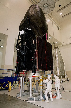 TDRS-8 - TDRS-H undergoing processing before launch