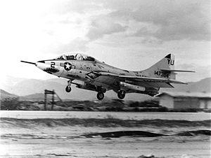 Grumman F-9 Cougar - A TF-9J (F9F-8T) of H&MS-13 at Chu Lai, Vietnam 1967