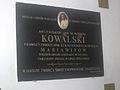 Tablica pamiątkowa abpa. Jana Marii Michała Kowalskiego w katedrze mariawickiej w Płocku.JPG