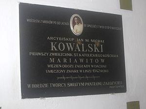 Maria Michał Kowalski - Memorial plaque
