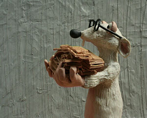 Plasticine - A Plasticine model of a rat, by Polish animator Monika Kuczyniecka