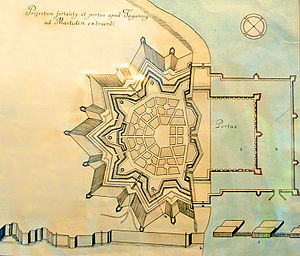 Taganrog Fortress - Plan of the Taganrog fortification and artificial haven