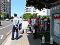 Tainan AFB Open Day Shuttle Bus Stop in Front of Tainan Municipal Cultural Center 20130810a.jpg