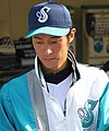 Takehiro Hukuda, pitcher of the Yokohama BayStars, at Yokosuka Stadium..JPG