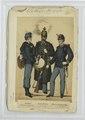 Tambour (in Marsch-Adjustirung), Unterofficier (in Parade), Officier-Stellvertreter (in Parade) (NYPL b14896507-90675).tiff