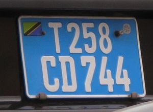 Vehicle registration plates of Tanzania - Diplomatic plates 2009