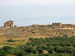 Téboursouk - Roman ruins at Teboursouk.
