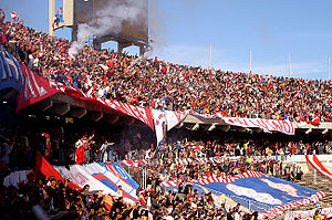 Tripoli Stadium - Al Ittihad Fans at the stadium during the Libyan Super Cup