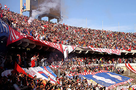 June 11 Stadium is the home stadium of both Al Ahly and Al Ittihad, and was the venue of the 1982 African Cup of Nations Final. Tehaa-Fans-SuperCup-BenTaher.jpg