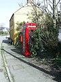 Telephone box and post box, St. Nicholas - geograph.org.uk - 1227478.jpg
