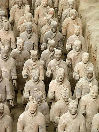 3rd century BC - The Chinese Terracotta Army of Qin Shi Huang's tomb at Xian, Shaanxi, China