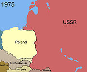 Territorial changes of Poland 1975